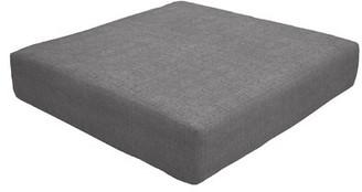 "Eddie Bauer Knife Edge Indoor/Outdoor Sunbrella Ottoman Cushion Fabric: Slate, Size: 5"" H x 24"" W x 24"" D"