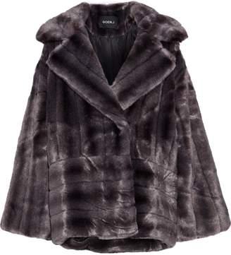 GOEN.J Quilted Faux Fur Coat