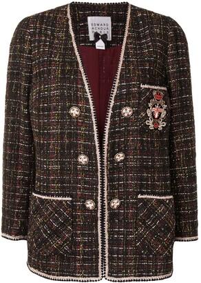 Edward Achour Paris Embroidered Tweed Jacket