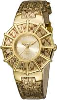 Roberto Cavalli Women's RV2L009L0056 WEBBING Dial Gold Leather Watch