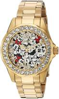 Invicta Women's 'Disney Limited Edition' Quartz Stainless Steel Casual Watch, Color:Gold-Toned (Model: 24419)