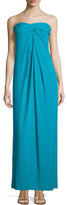 Halston Strapless Twisted Gown, Caribbean