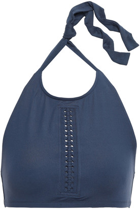 Eres Overall Braid-trimmed Halterneck Bikini Top