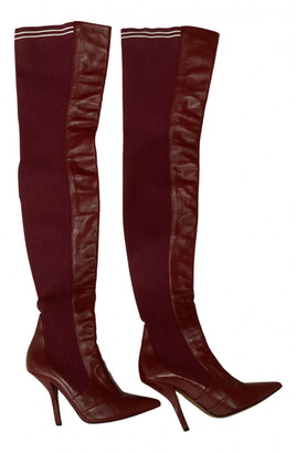 Fendi Colibri Red Leather Boots