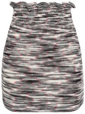 Missoni Ruffle-trimmed Marled Open-knit Wool Mini Skirt