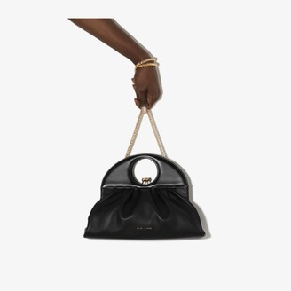 USISI SISTER black Lucas leather clutch bag