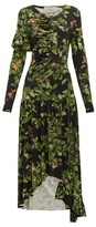 Preen by Thornton Bregazzi Ashley Oak Leaf-print Dress - Womens - Black Multi