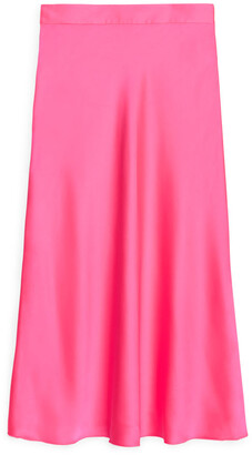 Arket Bias-Cut Satin Skirt