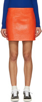 Courreges Orange Glossy Mini Skirt