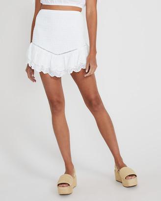 Subtitled Mickey Frill Shirred Skirt