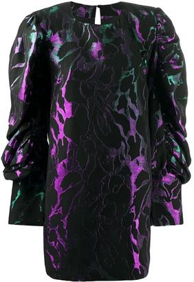 FEDERICA TOSI Metallic Abstract Print Mini Dress