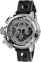 U-Boat 8065 Chimera Net leather strap silver watch