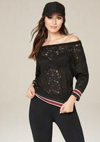 Bebe Lace Sweatshirt