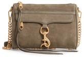 Rebecca Minkoff Mini MAC Nubuck Convertible Crossbody Bag - Green