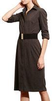 Lauren Ralph Lauren Petite Herringbone Point Collar Shirtdress