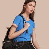 Burberry Check Trim Stretch Cotton T-shirt