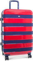 """Tommy Hilfiger Rugby Stripe 24""""Expandable Hardside Spinner Suitcase"""