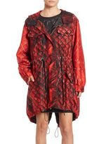 Moschino Faux Quilted Parka