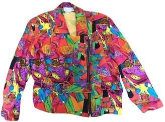 No Name Multicolour Silk Jacket for Women Vintage