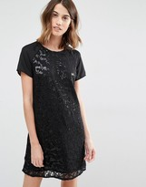 Vila All Over Embelished Shift Dress
