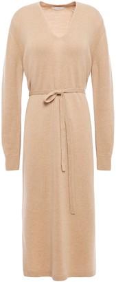 Vince Melange Wool And Cashmere-blend Midi Dress
