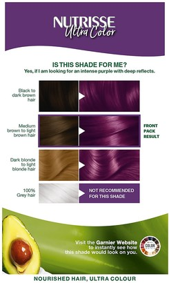 Garnier Nutrisse Ultra Colour Permanent Hair Dye - 5.21 Intense Lilac 160ml