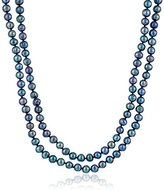 """Bella Pearl Black Endless Pearl Strand Necklace, 62"""""""