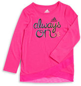 adidas Girls 2-6x Always On Wrap Tee