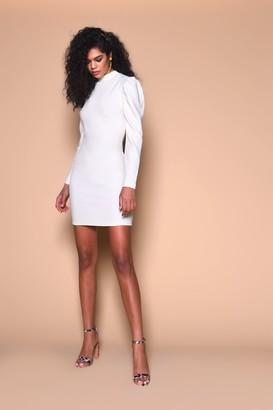 Glamorous Womens **Cream Knitted Mini Dress By Cream