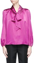Co Pussybow satin blouse