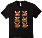 Men's FUNNY EASTER POOP EMOJI T-SHIRT Easter Bunny 3XL