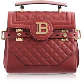 Balmain Quilted Leather 23 B-Buzz Satchel Bag