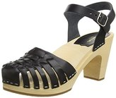 Swedish Hasbeens Women's Snake Sandal Platform Sandal