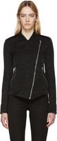 Gareth Pugh Black Textured Cotton Zip Jacket