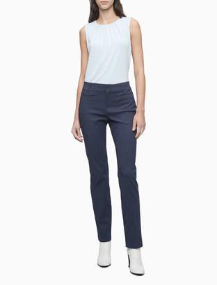 Calvin Klein Modern Essentials Chambray Slub Stretch Pants
