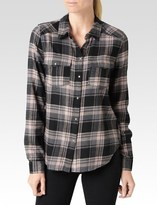 Paige Mya Shirt - Black/Grey/Adobe Rose Louisville Plaid