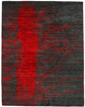 Christopher Fareed Design Studios Bishop Hand Knotted Tibetan Rug, 4'x6'
