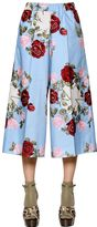Antonio Marras Floral Print Cropped Cotton Poplin Pants