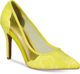 Thalia Sodi Natalia Mesh Pointed-Toe Floral Pumps, Only at Macy's