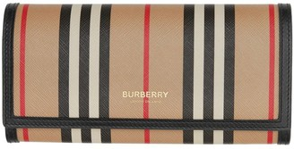 Burberry Icon Stripe E-canvas Continental Wallet