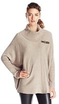 Calvin Klein Women's Sweater Cape with Buckle