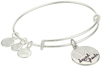 Alex and Ani Color Infusion, Squad Ghouls Charm Bangle (Shiny Silver) Bracelet
