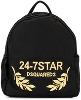 DSQUARED2 24-7 STAR logo backpack - women - Cotton/copper - One Size