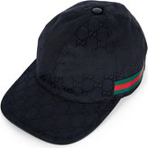 Gucci Original Gg Leather And Canvas Baseball Cap