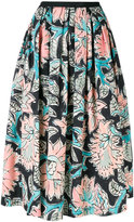 Antonio Marras floral print full skirt - women - Cotton/Spandex/Elastane - 38
