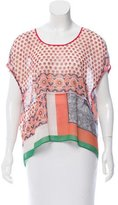 Clover Canyon Abstract Print Oversize Top