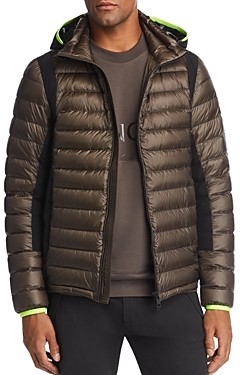 Moncler Color-Block Down Hooded Puffer Jacket