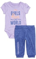 Under Armour Infant Girl's Girls Run The World Graphic Tee & Jogger Pants