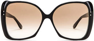 Gucci Square Acetate Sunglasses in Brown | FWRD