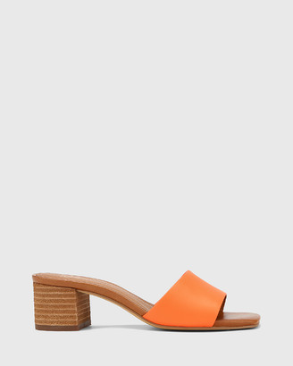 Wittner - Women's Orange Sandals - Ginnie Leather Block Heel Sandals - Size One Size, 36 at The Iconic